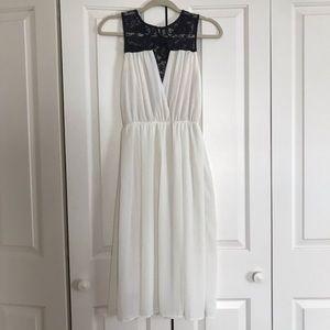 NWOT ASOS TFNC boho White Dress xs